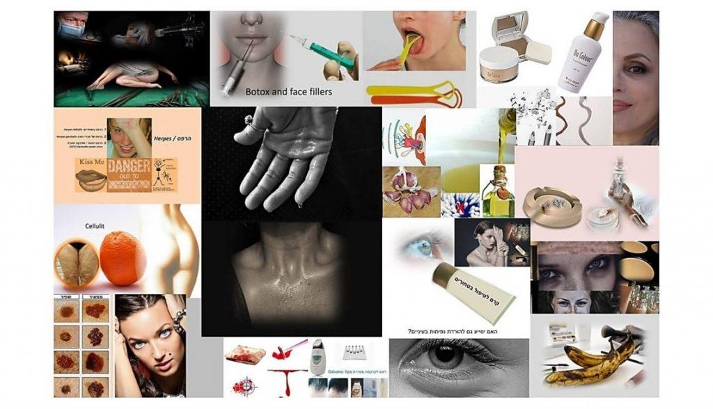 טיפים טריקים של דוגמניות מתנה. תמונת קולאז' עם תמונות של כל סדרת הטיפים.