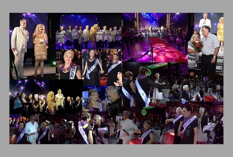 טקס תחרות מלכות היופי ניצולות השואה 2016 התחרות מתחילה המועמדות נקראות לבמה על ידי המנחה אילנה אביטל ומשם למסלול. תמונת קולאז מהתחרות.